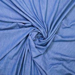 tissu chambray denim indigo medium Fibre Mood