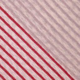 maille marinière rouge crème