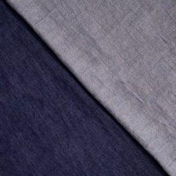 tissu chambray denim indigo brut Fibre Mood