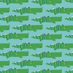 tissu Rainbow crocodiles Dashwood Studios