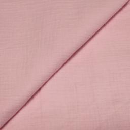 Double gaze de coton rose bonbon