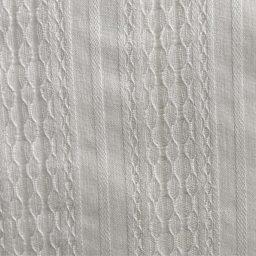 tissu brodé rayures écru