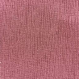 double gaze de coton vieux rose