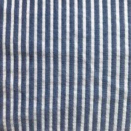 tissu rayé bleu blanc et lurex argent