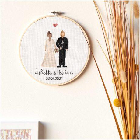 kit broderie figurico mariage rico design
