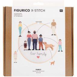 kit broderie Figurico Famille Rico design
