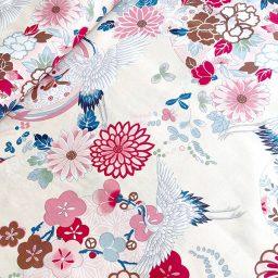 tissu Japanese modern grue Kokka